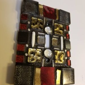 Handcrafted Mosaic Light Switch Plate Cover